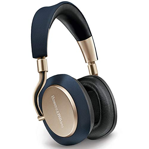 Bowers & Wilkins PX Wireless Over-Ear Headphones (Factory Certified Refurbished, Gold/Navy)