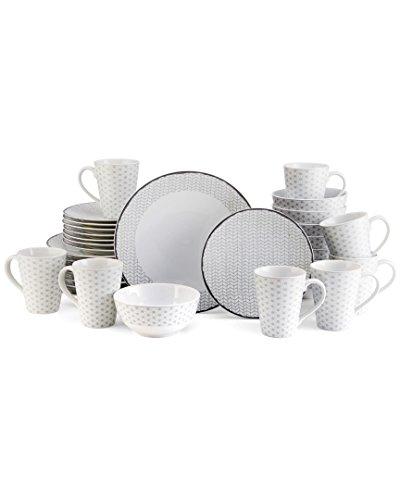 Mikasa Avery Medley Gray 32Pc Set (Mikasa Gourmet Basics Avery 16 Pc Dinnerware Set)