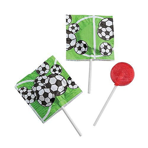 - Fun Express - Soccer Printed Suckers - Edibles - Sucker & Pop - Suckers & Lollipops - 55 Pieces