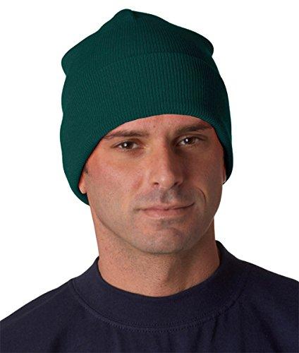 Yupoong Cuffed Knit (Yupoong Adult Heavyweight Cuffed Knit Cap, Spruce, One Size)