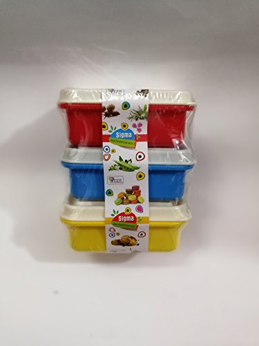 URC Online Small colorful tiffin box - set of 3 colourful (Tiffin Set)