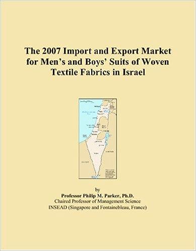 Lataa italian äänikirjat ilmaiseksi The 2007 Import and Export Market for Menï¿1/2s and Boysï¿1/2 Suits of Woven Textile Fabrics in Israel 0546289169 PDB