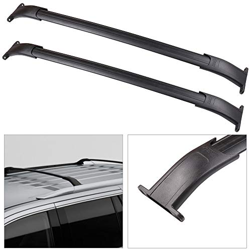 cciyu 2pcs Universal Aluminum Roof Rack Crossbar Car Top Luggage Carrier Rails Fit for 2015-2018 Cadillac Escalade Cadillac Escalade ESV Chevrolet Suburban Chevrolet Tahoe GMC Yukon GMC Yukon XL