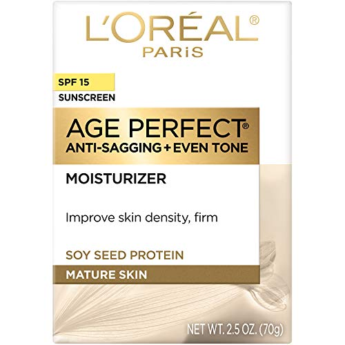 41Misw7UB8L - L'Oreal Paris Skincare Age Perfect Day Cream, Anti-Aging Face Moisturizer with SPF 15 and Soy Seed Proteins, 2.5 oz.