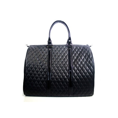 Black Quilted Mini Black Quilted Mini Petote JL Duffel Pet Carrier, Mini, Black Quilted
