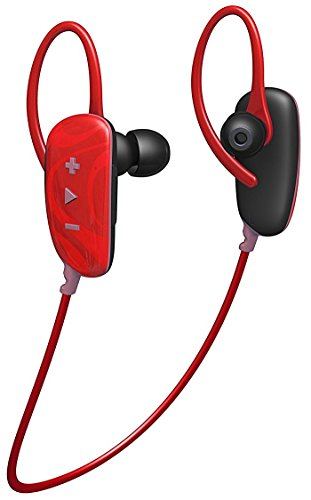 (HMDX Jam Fusion Buds Wireless Bluetooth In-Ear Headphones / Headset with Microphone - Red)