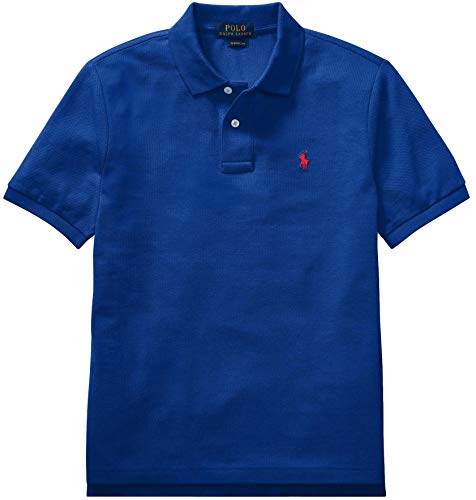 Ralph Lauren Polo Boys' Classic Cotton Mesh Polo Shirt (SapphireStar, M)