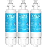 AQUACREST LT700P Replacement Refrigerator Water Filter, Compatible with LG LT700P, Kenmore 9690, 46-9690, ADQ36006101, ADQ36006102 (Pack of 3)