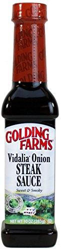Golding Farms Vidalia Onion Steak Sauce - Sweet & Smoky - 10-oz. bottle (Sauce Pork Steak)