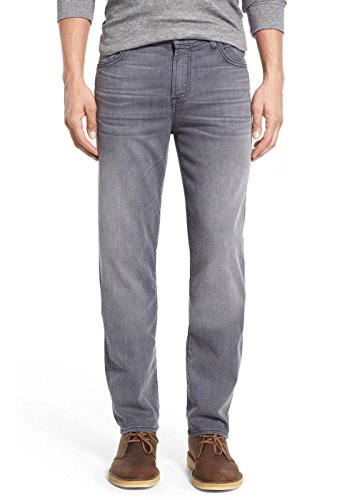 7 For All Mankind Men's ''Slimmy'' Slim-Straight Leg Jeans (28, Mercury Grey) by 7 For All Mankind