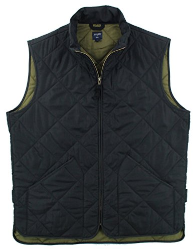 J. Crew - Men's - Quilted Outerwear Vest (Multiple Colors (Medium, Black) (Quilted Diamond Vest)