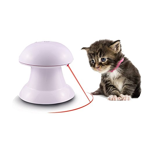 Cat Toys, Automatic Rotating Light with 360°Rotation Interactive Motorized Electric Toy Entertainment Stimulation Hunting Attractive Light Funny Exercise Training Toy For Cats Dogs Pet Kitten Puppy