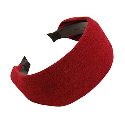 Wide-brimmed Head Band for Women Red - 3