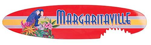 (Margaritaville Outdoor Indoor/Outdoor Surfboard Shark Bite Garden Sign Wooden Wall Art, Margaritaville)