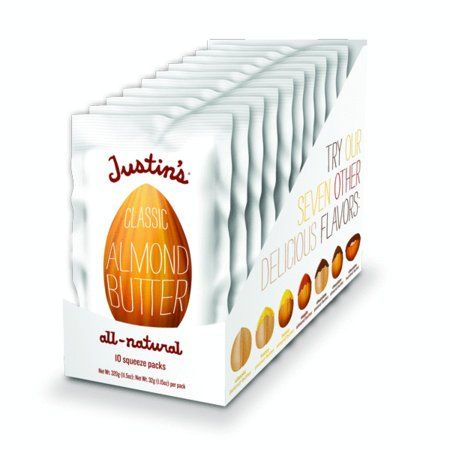 Justin's Natural Classic Almond Butter Squeeze Packs 1.15 oz., 10 Count Box (Pack of 2)