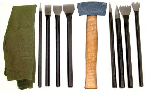 Stone Carving Chisels (National Stone Carving Set Has 9 Tools in A Convenient Roll-Up Pouch)