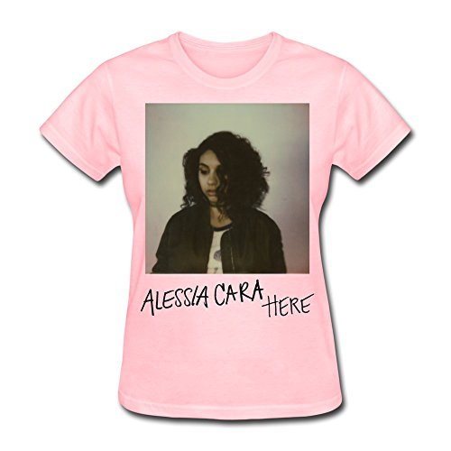 SFMY Women's Alessia Cara Here 2015 Poster T-Shirts XS Pink