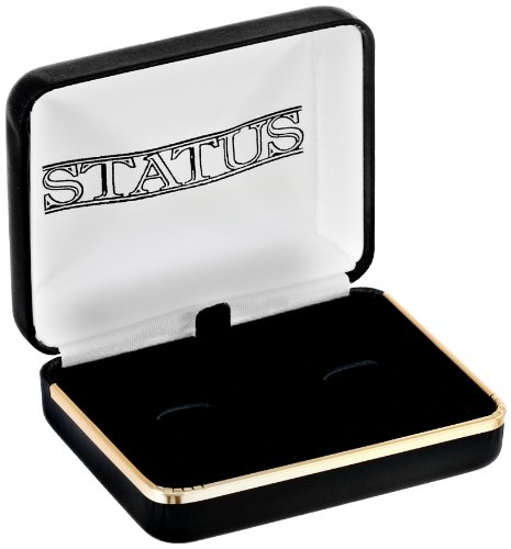 Status Men's Stud Set Masonic Round with Black Enamel With Masonic Compass, Gold, One Size by Status (Image #3)