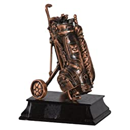 Copper Golf Bag Figurine (Free Shipping)