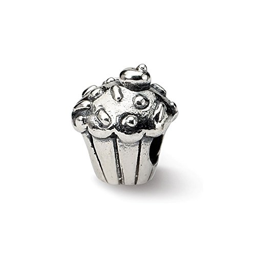 925 Sterling Silver Charm For Bracelet Kids Cupcake Bead Kid Line Fine Jewelry Gifts For Women For Her ()