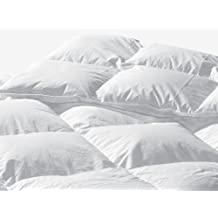 Highland Feather Manufacturing 74-Ounce Santiago Goose Feather Duvet, King, White