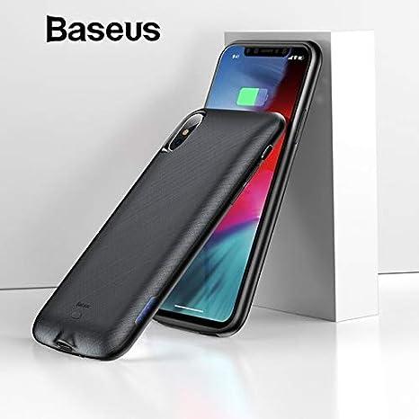 hot sale online f7ce8 e15bc Baseus iPhone X/XS Power Bank Battery Case, 4000mAh: Amazon.in ...