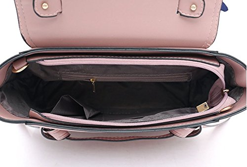 Caqui Grande Bolso Mujer Bolso Nuevo Vintage Bolso Pink Meaeo Salvaje Mensajero Hombro Bolso 0zqPIwOx