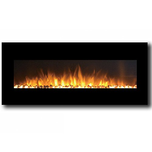 Regal Flame Rigel Black 50″ Pebble Ventless Heater Electric Wall Mounted Fireplace Better than Wood Fireplaces, Gas Logs, Fireplace Inserts, Log Sets, Gas Fireplaces, Space Heaters, Propane For Sale
