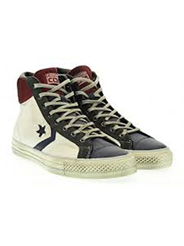 Unisex Adulto Leather nbsp;– Star abotinadas blu Player nbsp;Scarpe Hi Converse Bianco P0qwBnTT