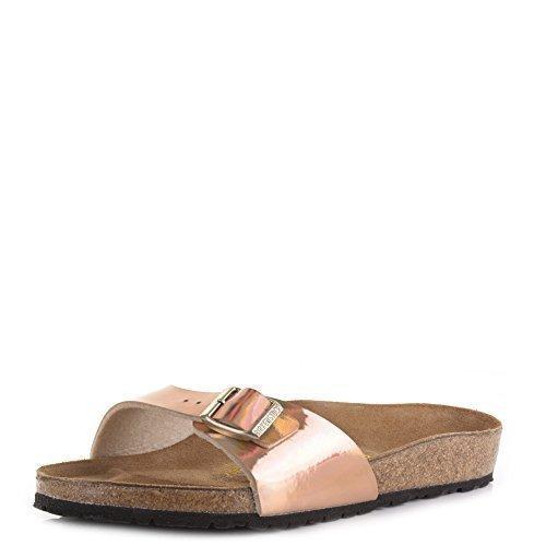 Birkenstock Sandales Madrid effet miroir Rose doré effet miroir, Faux cuir, 41: : Chaussures et Sacs