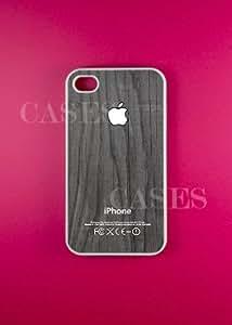Iphone 4 Case, Black Wood White iPhone 4s Cases - Unique Wooden Design ...