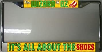Amazoncom Wizard Of Oz Ruby Slippers Photo License Plate Frame