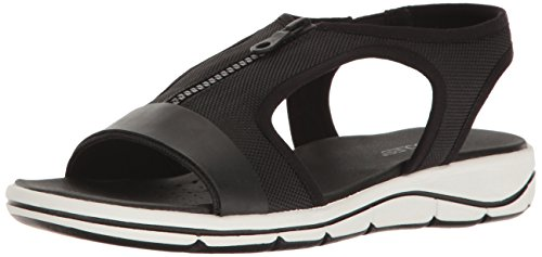Aerosoles Mujeres Top Form Flat Sandal Black Fabric