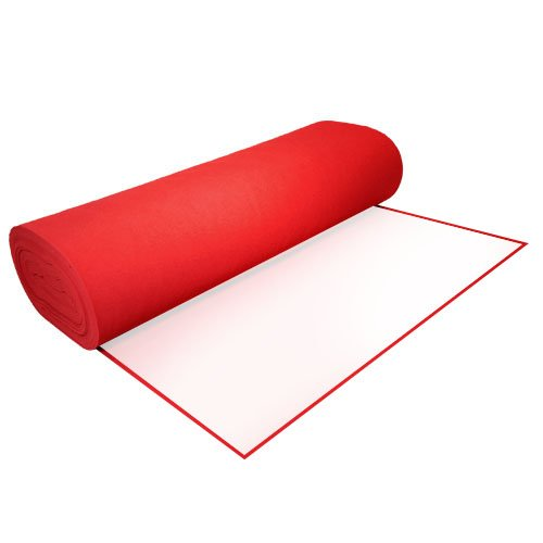 Acrylic Felt by the Yard with Adhesive 36 Wide X 2 YD Long Red