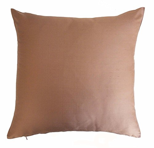 Silk Throw Pillow Cover Light Onion Pink 15x15 inch Pack of 2 100% Pure Silk Dupioni Cushion Cover