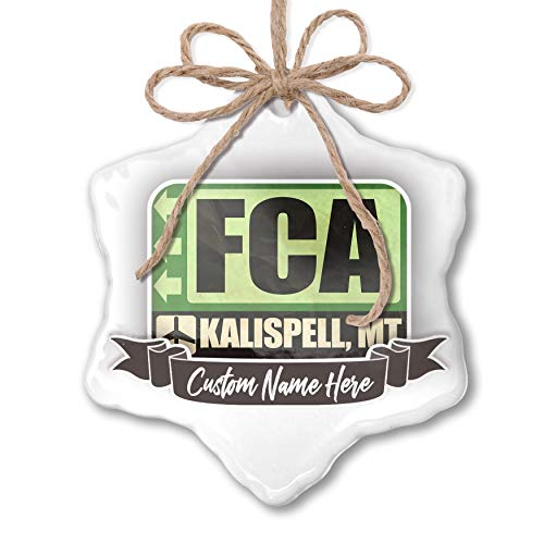 NEONBLOND Create Your Ornament Airportcode FCA Kalispell, for sale  Delivered anywhere in USA