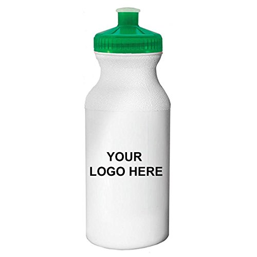 Caden Concepts Bike - 20 oz. Sports Water Bottle Translucent Green Lid - 100 Quantity - $1.30 each - Promotional Product/Bulk / WITH YOUR CUSTOMIZED BRANDING