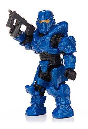 Mega Bloks Halo Foxtrot Series Blue Aviator Spartan Mini Figure-Opened to -