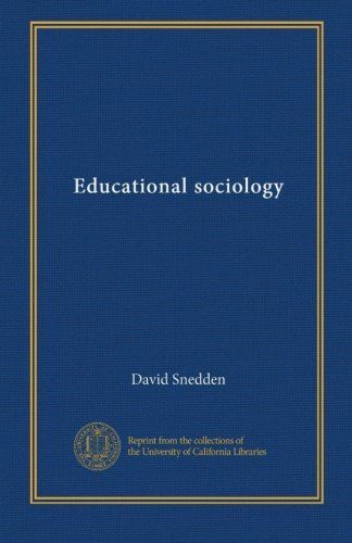 Educational sociology (v.1)