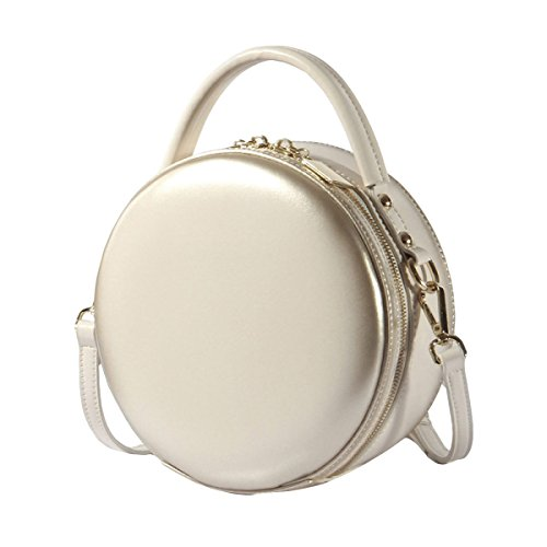 Girls Mini Small Bags Cross Totes For Women's Circle Shoulder Genuine Gifts Bag Body Bags Ladies Leather Handbags Messenger Handbag Round White Bags handle Top x4wn17Iw6q