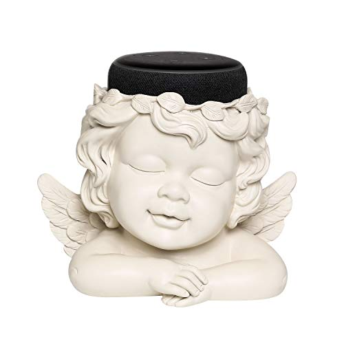 - Angel Statue Crafted Stand Holder for Amazon Echo Dot 3rd Generation,Aleax Smart Home Speakers Holder Accessories, White