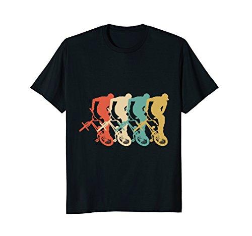 BMX Riding Retro T Shirt Cool Dirt Bike Race Stunt Gift ()