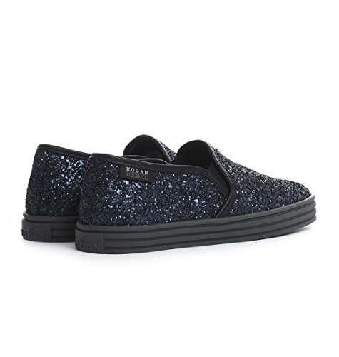 Hogan Rebel Slip On Sneakers Donna HXW1410Q561DXJ4805 Pelle Blu