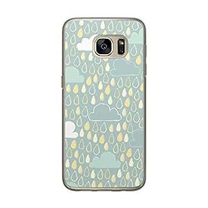 Loud Universe Samsung Galaxy S7 Clouds 1 Eps Designed Transparent Edge Case - Green