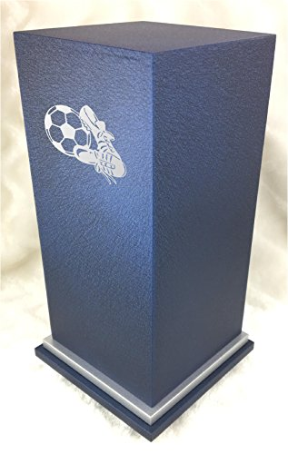 PERSONALIZED Custom Engraved Soccer Cremation Urn Vault by Amaranthine Urns, made in the USA, Eaton SE Painted Silver (up to 200 lbs living weight) (Sandstone) (Vaults For Urns)