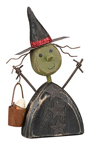 Primitives by Kathy Vintage Style Chunky Witch Sitter Halloween Figurine New -