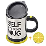 AZFUNN Self Stirring Coffee Mug - Self Stirring, Electric Stainless Steel Automatic Self Mixing Cup and Mug- Cute & Funny, Best for Morning, Travelling, Home, Office, Men and Women