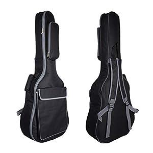 Gitarrentasche Gig Bag Wasserdicht Gitarre Tasche Guitar Bag Case Gitarrenhülle für Akustikgitarre Klassikgitarren 40 41 Zoll Tasche Für Gitarre Rucksack 10MM Gepolsterte