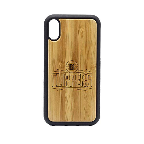 NBA LAC Los Angeles Clippers Logo 9 - iPhone XR Case - Bamboo Premium Slim & Lightweight Traveler Wooden Protective Phone Case - Unique, Stylish & Eco-Friendly - Designed for iPhone XR (Clippers Flat Angeles Los)