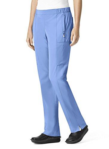 Halo By Vera Bradley Women's Mary Slim Seam Drawstring Cargo Scrub Pant Medium Petite Ceil Blue from Vera Bradley Healthcare Apparel